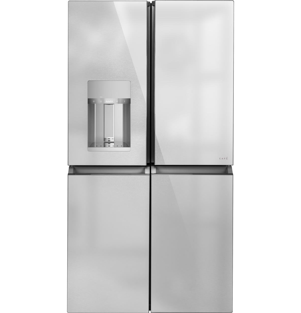 Café™ ENERGY STAR® 27.4 Cu. Ft. Smart Quad-Door Refrigerator in Platinum Glass