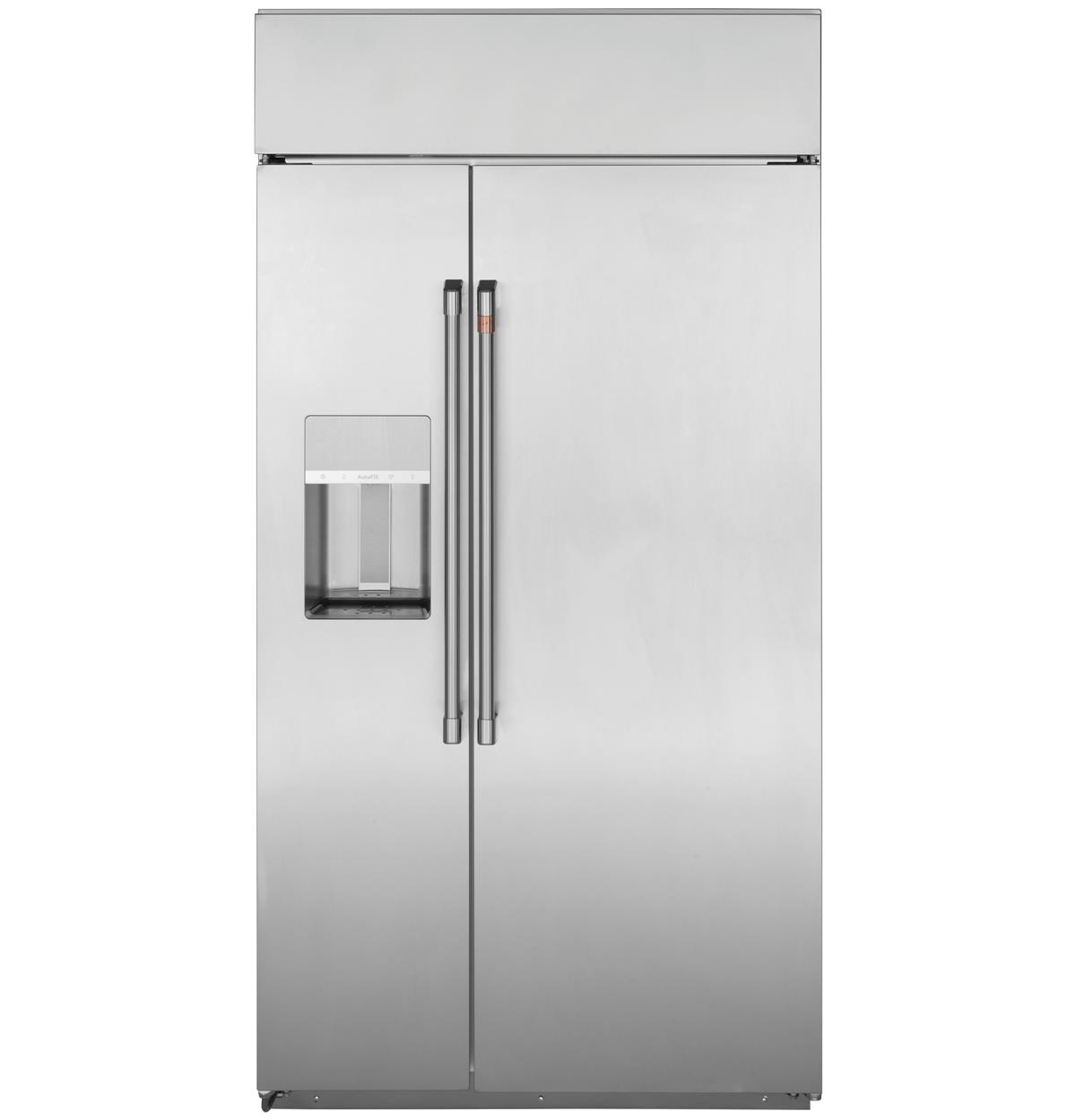 "Café™ 48"" Smart Built-In Side-by-Side Refrigerator with Dispenser"
