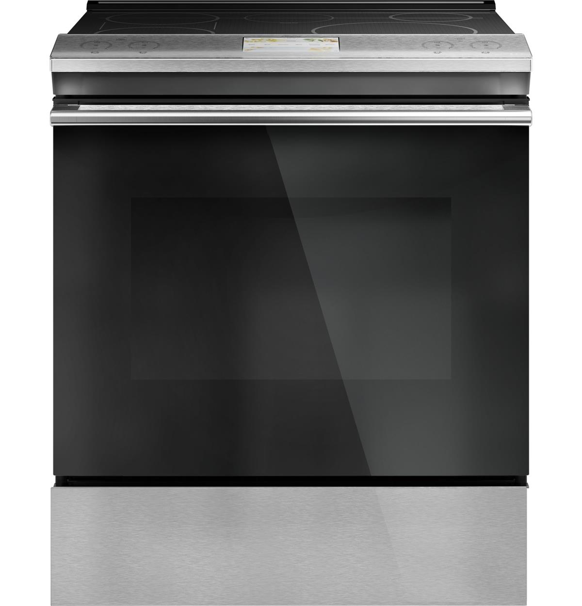 """Café™ 30"""" Smart Slide-In, Front-Control, Induction and Convection Range in Platinum Glass"""
