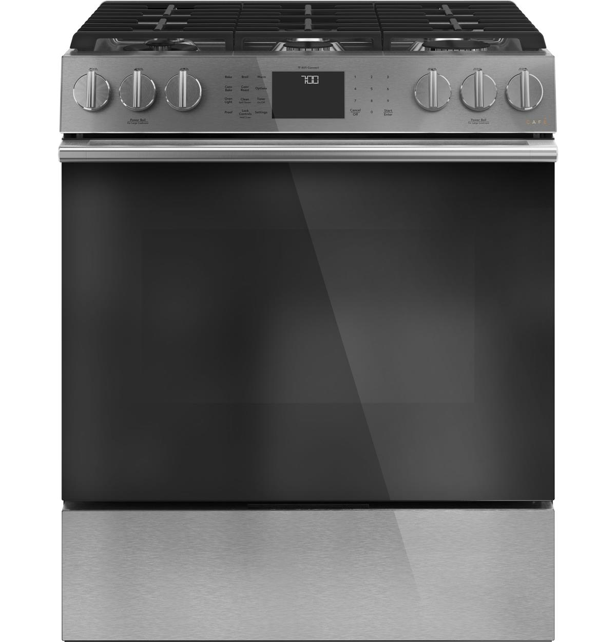 "Café™ 30"" Smart Slide-In, Front-Control, Gas Range with Convection Oven"