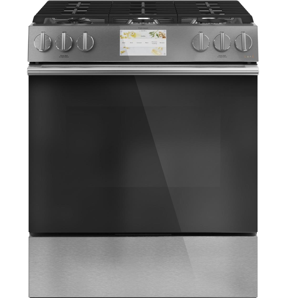 "Café™ 30"" Smart Slide-In, Front-Control, Dual-Fuel Range"
