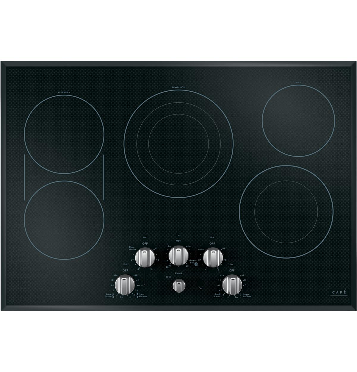 "Café™ 30"" Built-In Knob Control Electric Cooktop"