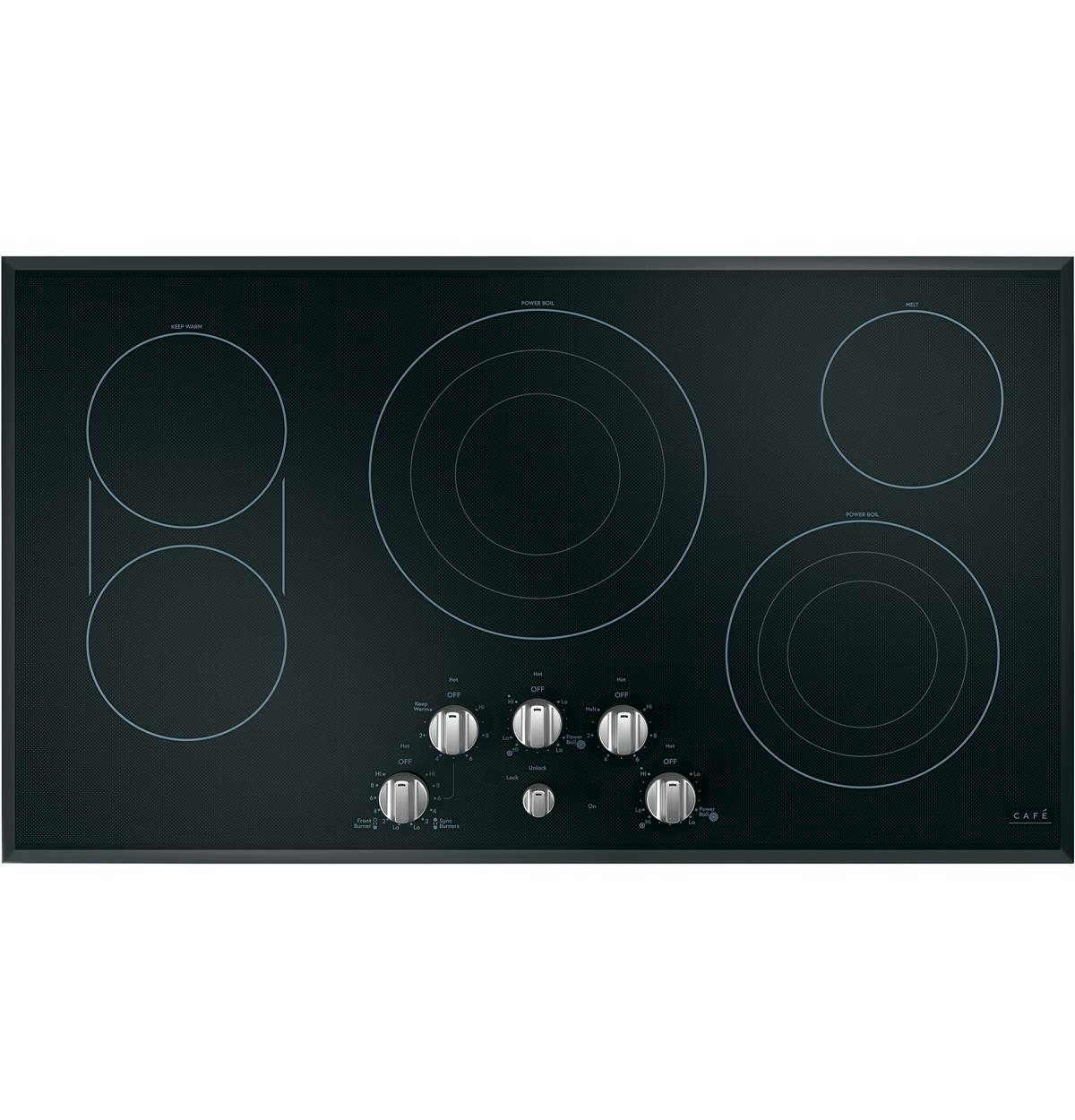 "Café™ 36"" Built-In Knob Control Electric Cooktop"