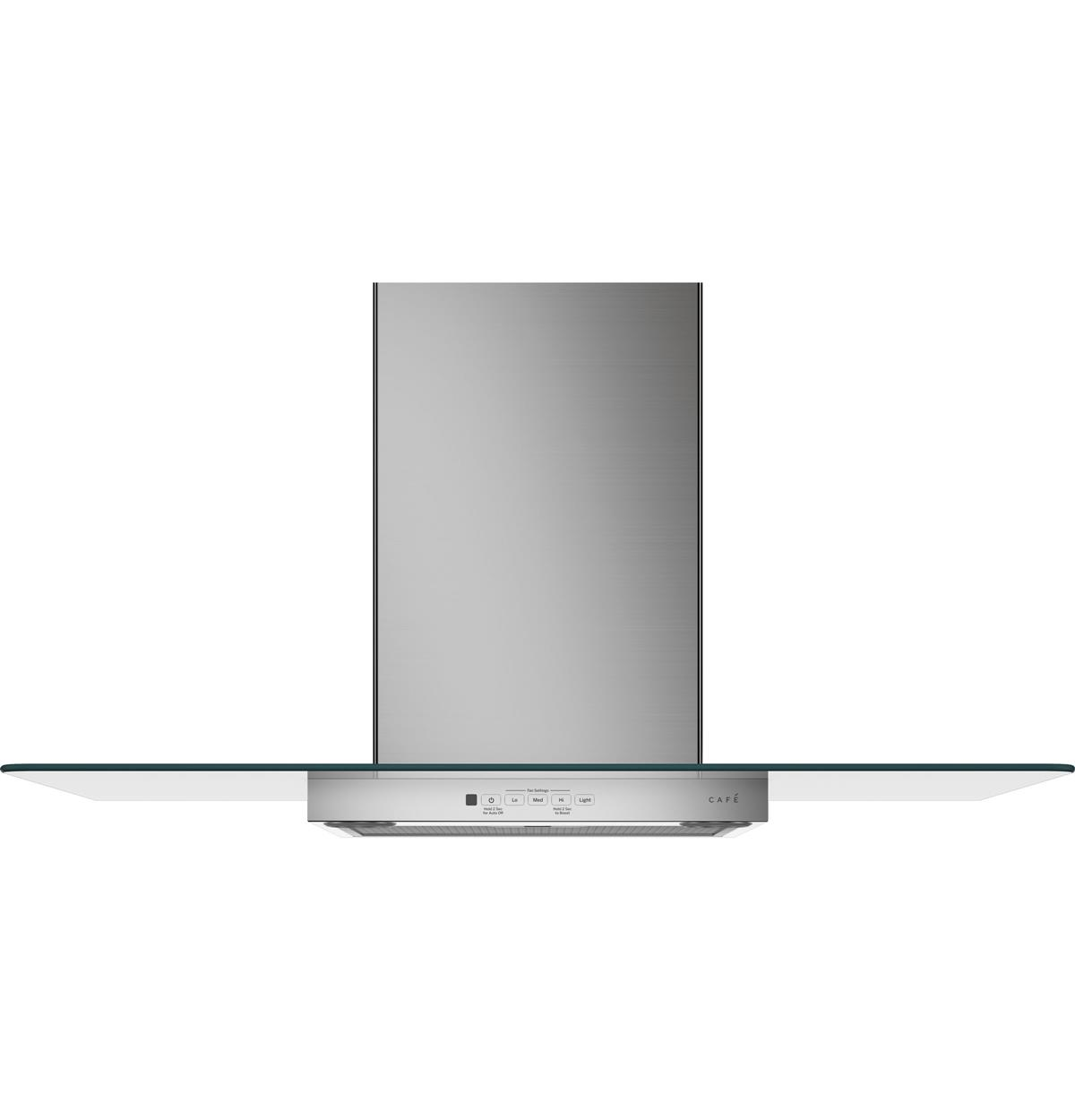 "Café™ 36"" Wall-Mount Glass Canopy Chimney Hood"