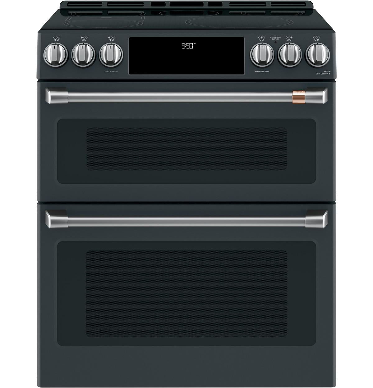 "Café™ 30"" Smart Slide-In, Front-Control, Induction and Convection Double-Oven Range"