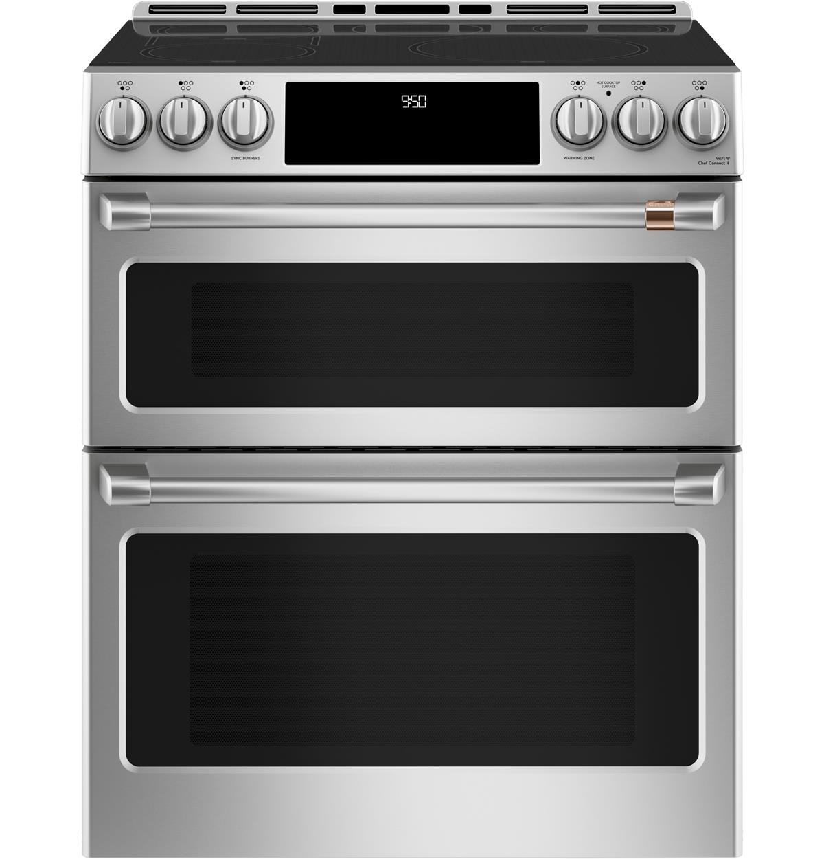 "Café™ 30"" Smart Slide-In, Front-Control Induction and Convection Double-Oven Range"