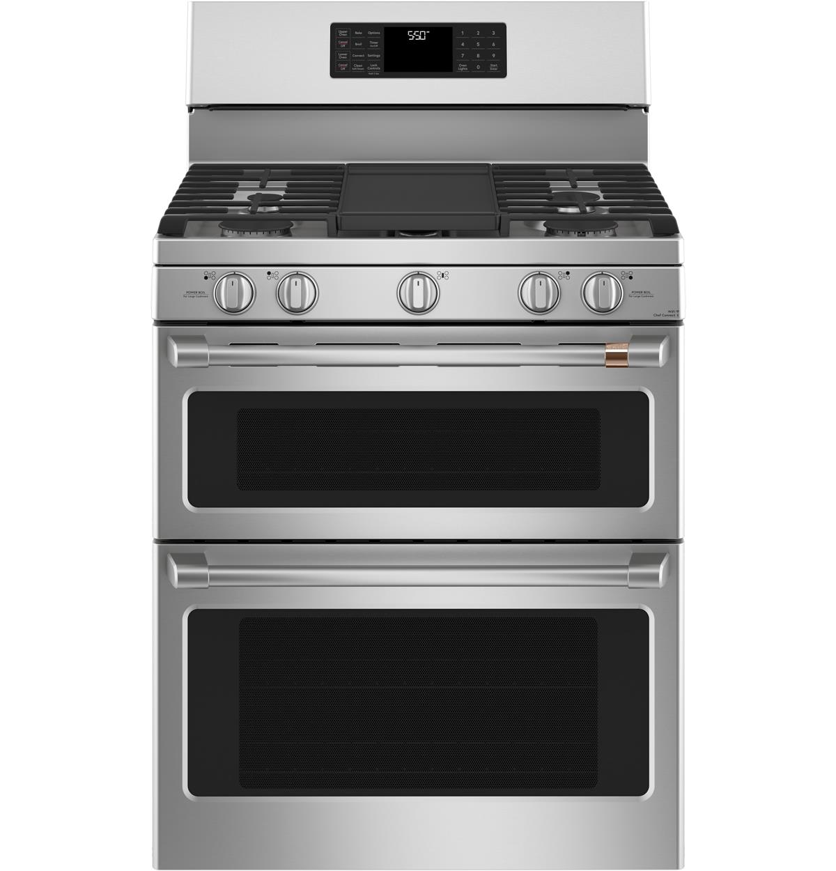 "Café™ 30"" Smart Free-Standing Gas Double-Oven Range with Convection"