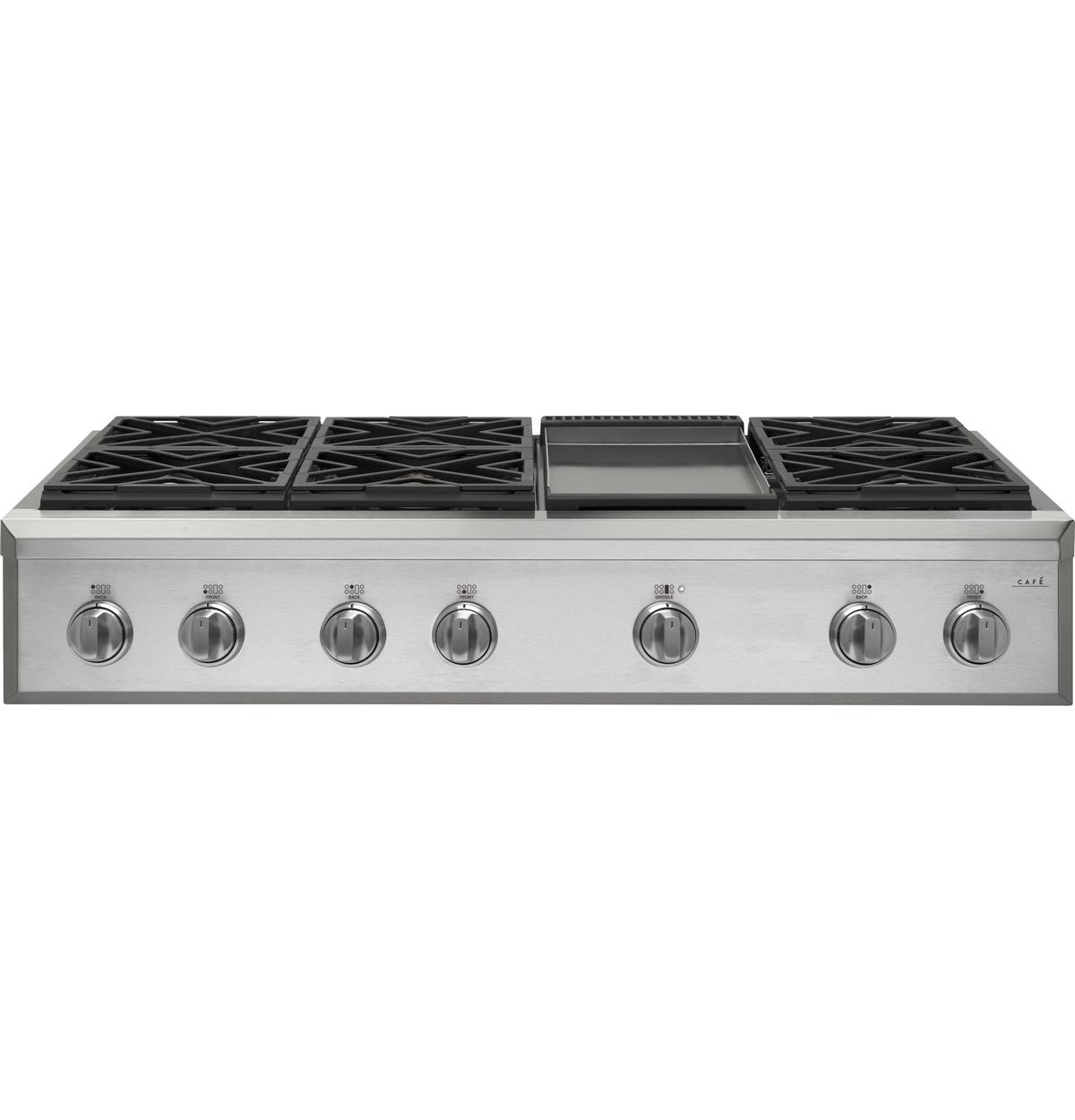 "Café™ 48"" Professional Gas Rangetop with 6 Burners and Griddle (Natural Gas)"