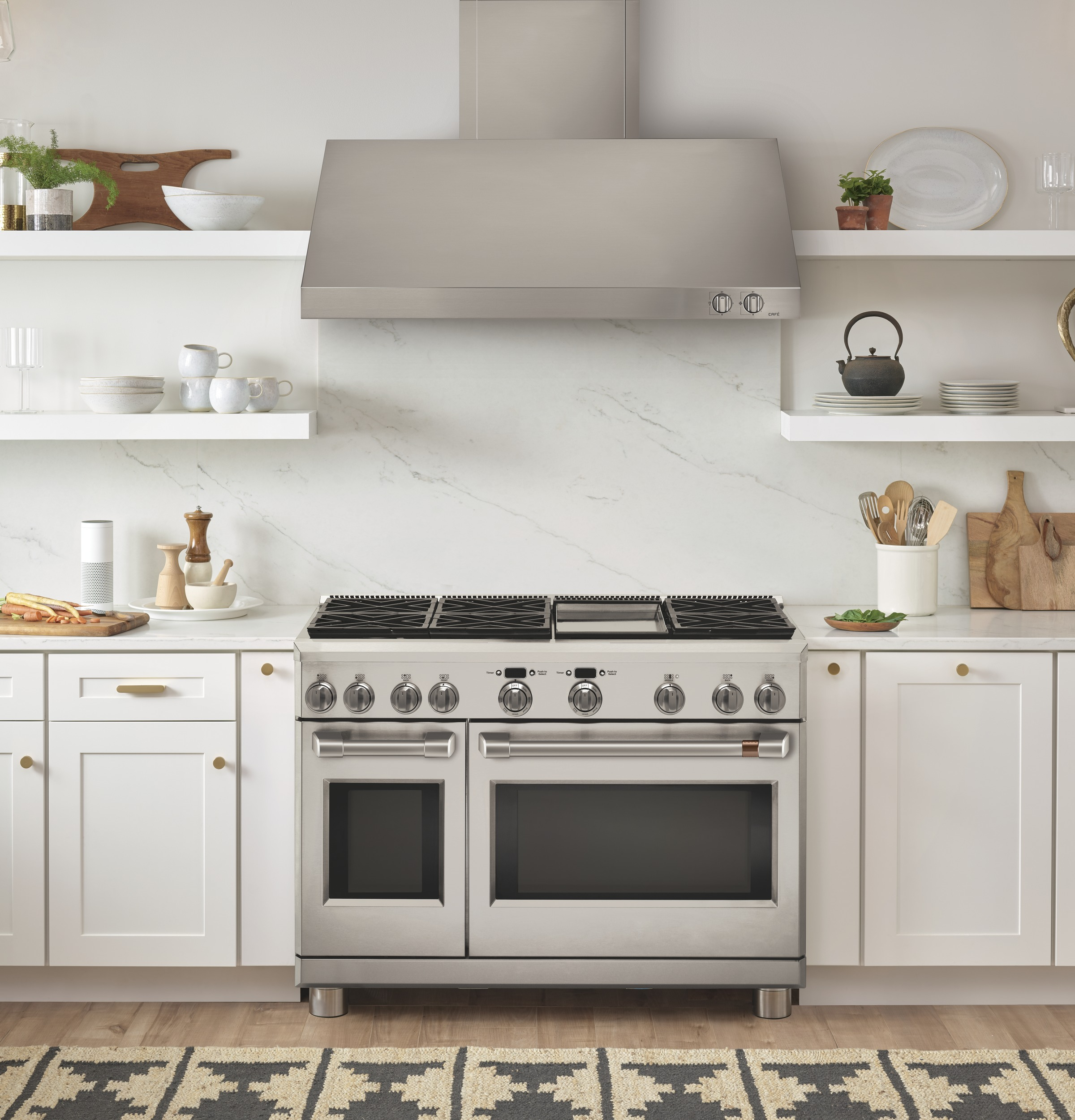C2y486p2ms1 Overview Cafe 48 Dual Fuel Professional Range With 6 Burners And Griddle Natural Gas Cafe Appliances
